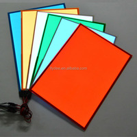 Multicolor Flexible Custom El Backlight Electroluminescent Panel Sheet For Car, House, Party, Holiday, Festival Decoration
