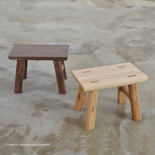 Top Quality Nature Wooden Taboret Small Square Stool