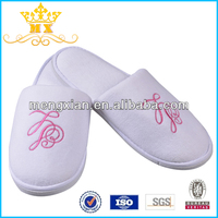 Wholesale High Quality Comfortable Soft Cotton Velour Elegant Hotel Slipper