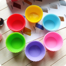 Holesales Set of 600 Pieces (50 dozen) Round Shaped Silicon Cake Baking Molds Jelly Mold Silicon Cupcake Pan Muffin Cup