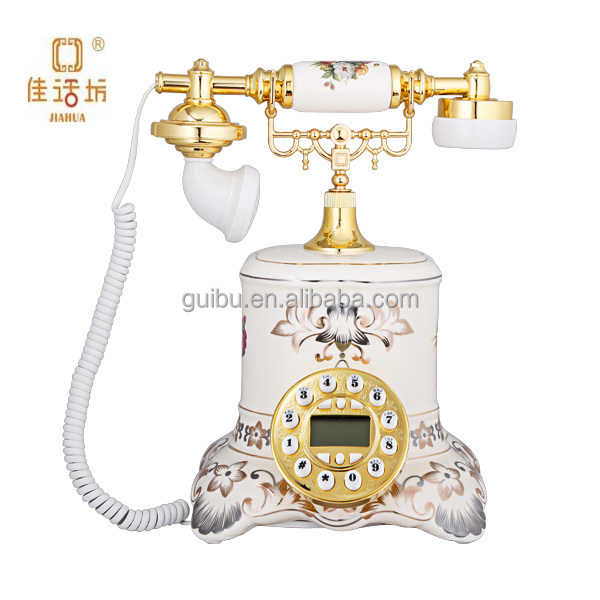 Ceramic white telephone products not available in india for home decor