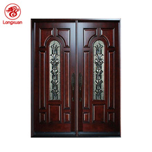 Custom design mahogany entry double doors arched double door designs for home