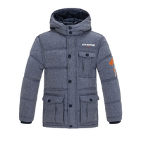 100 Polyester Boys Waterproof Padded Jacket