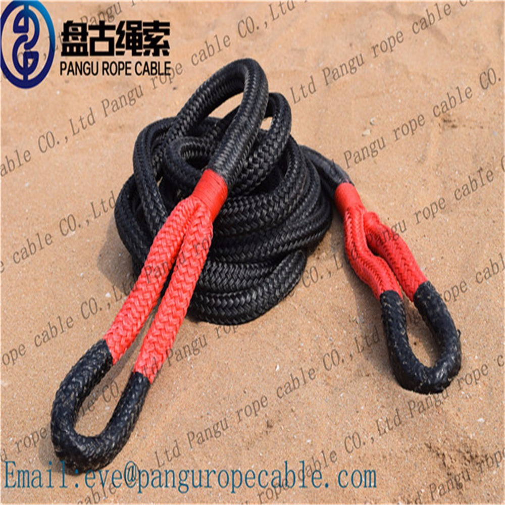 "3/4"" x 30' pu coating kinetic energy recovery tow rope for 4X4 /4wd/Truck/atv/utv"