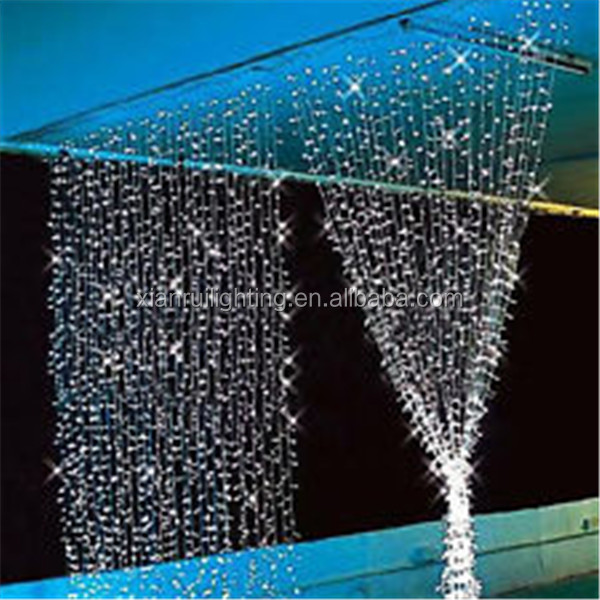 Indoor/outdoor super bright energy saving christmas decoration beaded curtains