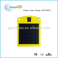 Guangzhou factory solar charger for mobile phone camera GPS battery charging 5V/650mA OS-OP041A