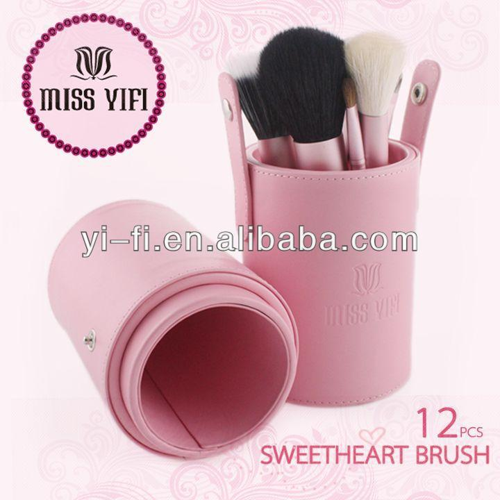 Miss Yifi Pink Canister 12pcs makeup brush beauty product