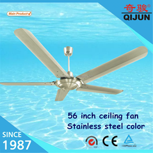 5 blades stainless steel material ac ceiling fan with big air flow/high Rpm