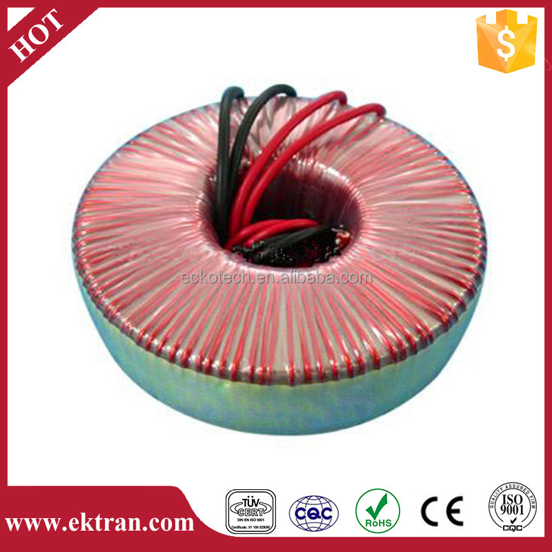 Toroidal types of winding single pahse dry type transformer 48v 150w