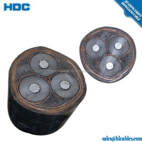 6/10KV 26/35KV Height Tension Cable YJV22 YJV32 11KV Power Cable Cu/XLPE/SWA/PVC XLPE Insulated Armoured 3C 120mm2 240mm2