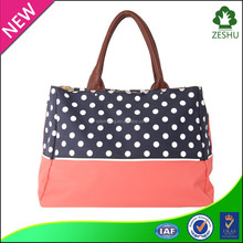hot sale customzied canvas material mom diaper bag