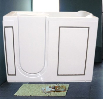 Walk-in tubs made in acrylic with left and right door-low step in ,highest quality ,special offer on sale 100% satisfied