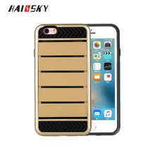 HAISSKY New Arrival Multi Functional TPU+Silicon Cellphone Case Cover For iPhone 7Plus Case With Card Slot