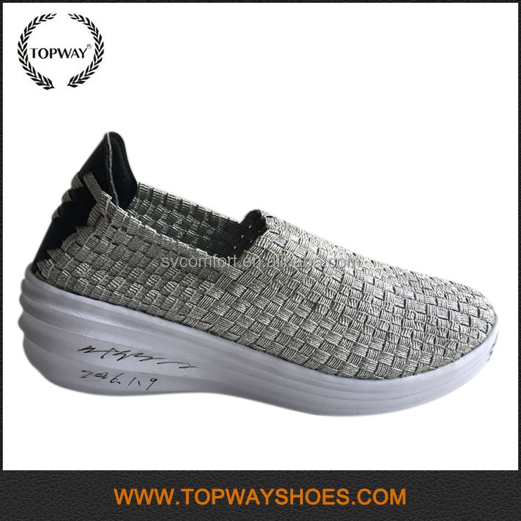 New Women Casual Female woven canvas thick sole made to order shoes