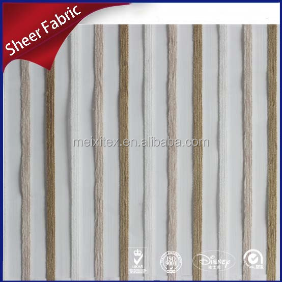 Chenille upholstery transparent stripe curtain fabric design