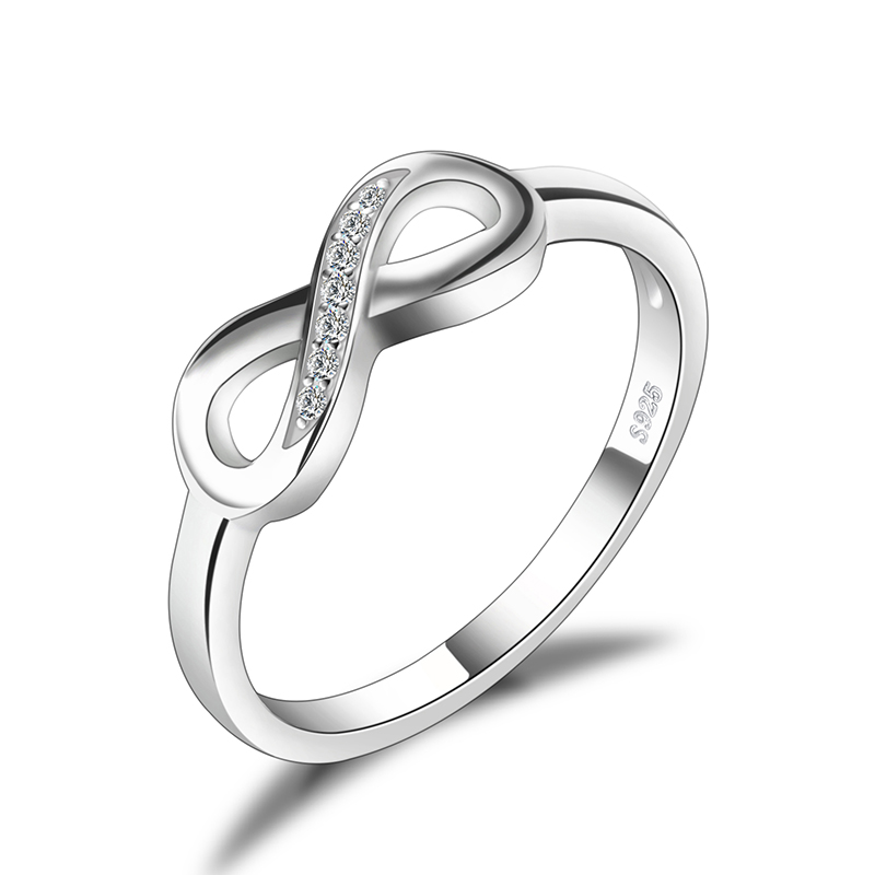 Infinity Forever Love Cubic Zirconia Ring Anniversary Promise Ring 925 Sterling <strong>Silver</strong> From JewelryPalace
