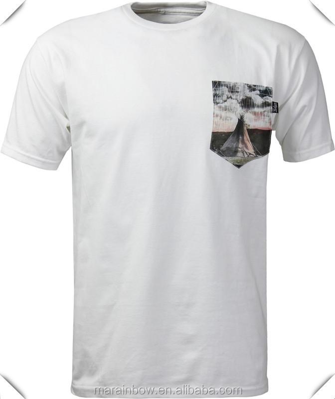 Mens o neck short sleeve graphic printed pocket t shirt for Buy printed t shirts wholesale