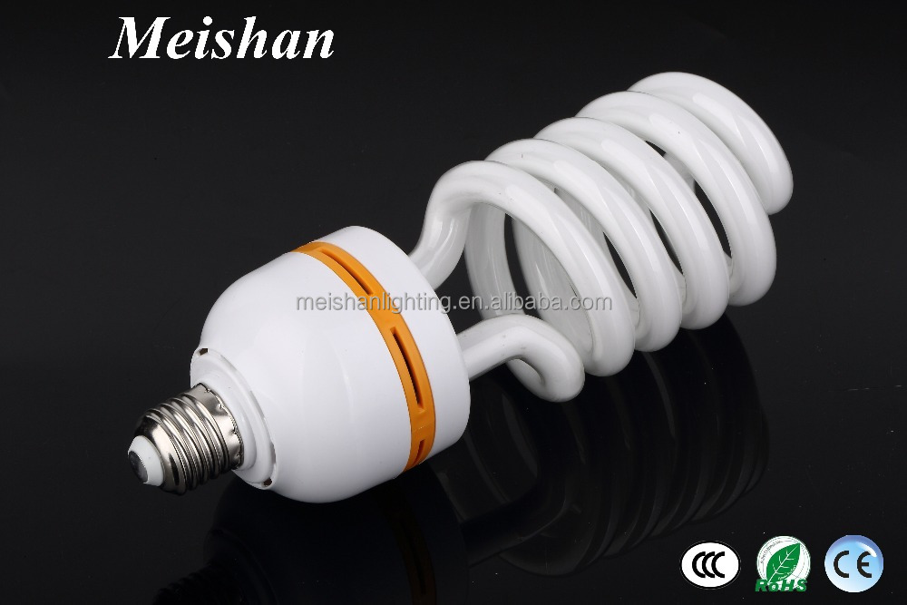 6400k half spiral lamp 24w energy saving lamps E27 B22 cfl bulb