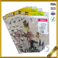 aluminium foil bag for T shirt packaging hot selling