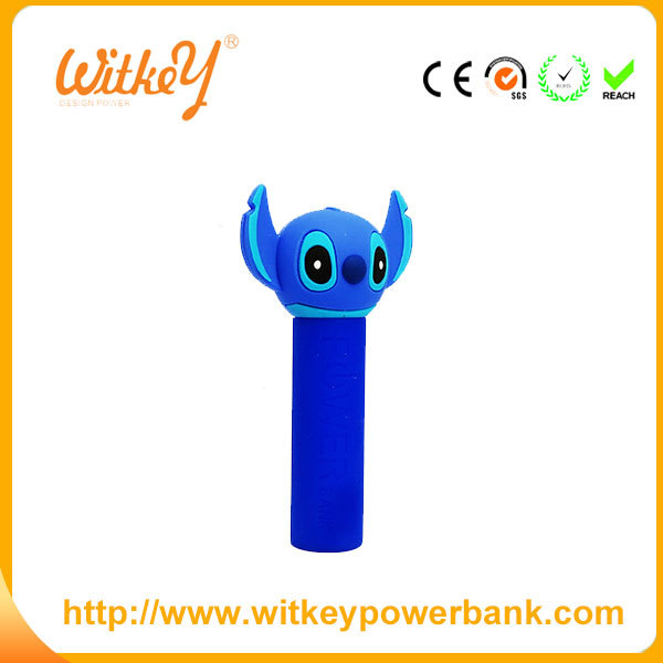 Portable PVC/ Silicone mobile power bank/mobile power supply 2000mah