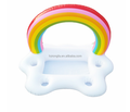 2018 pvc inflatable rianbow cloud cup holder swimming pool drink holder mini rainbow cloud holder