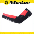 Light & comfortable red cycling arm warmer/Monton bicycle wear