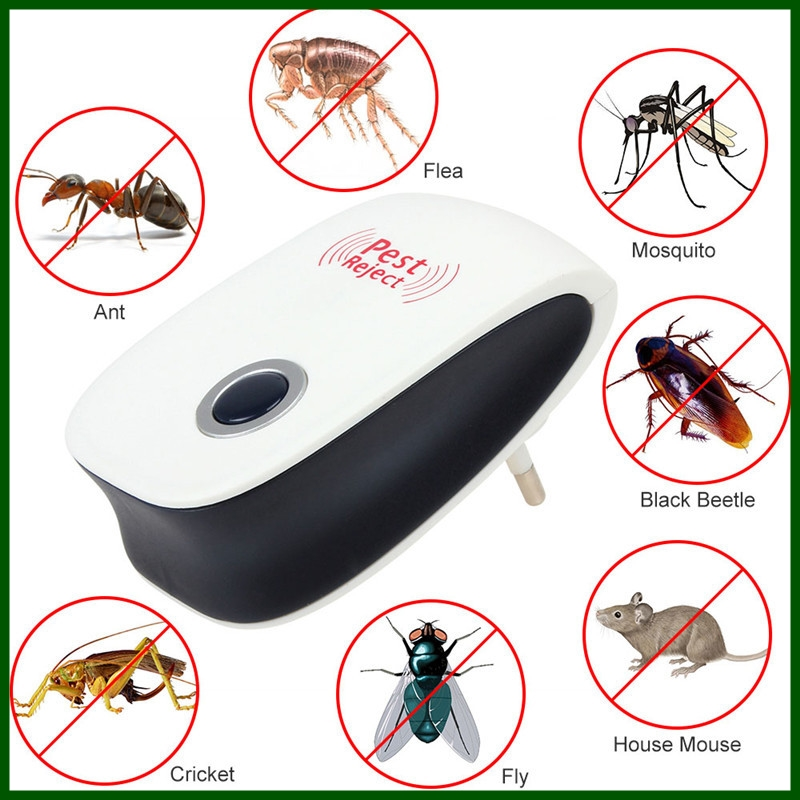 Electronic ultrasonic pest reject repellent repeller for mouse rodent cockroach spider bug insect ultrasonic pest repeller