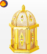Good price gold colour or crystal luxury glass candy jar with glass lids