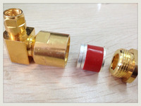 RF SMA male right angle 90 degree connector LMR300 coaxial cable