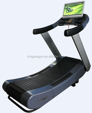 Commercial Treadmill/Display Self-Generating Woodway Curve Treadmill