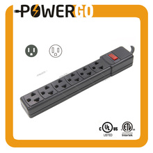 6-Outlet Power Strip Surge Protector 5 FT 6 Outlet Power Socket With 5-Foot Extension Cord, Heavy-Duty 2500W Black