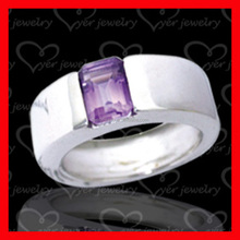 New Statement purple Fire Opal silver Bridal Wedding rings for women
