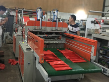 SHXJ-C Full automatic polythene t shirt bag making machine with printing