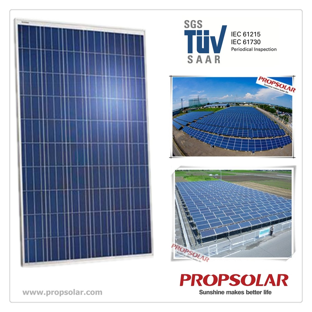 Propsolar SGS,TUV certificate 250W poly solar panel with cheap price
