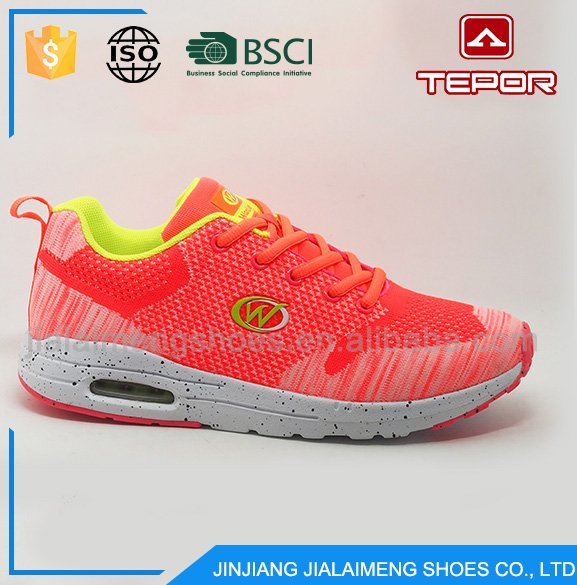 Unique design customized knitting cheap brand running shoes