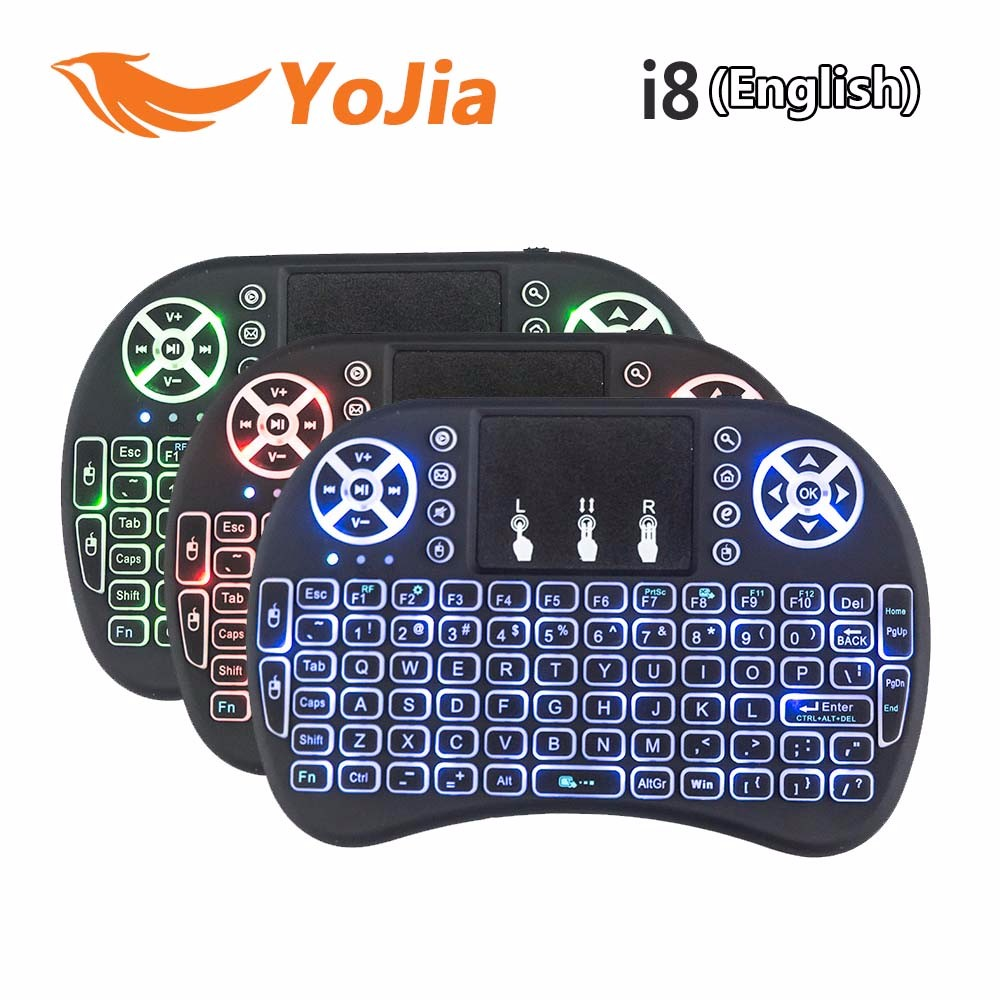 i8 English 2.4GHz Wireless Mini Keyboard Air Mouse for Android TV BOX computer keyboard gaming remote control