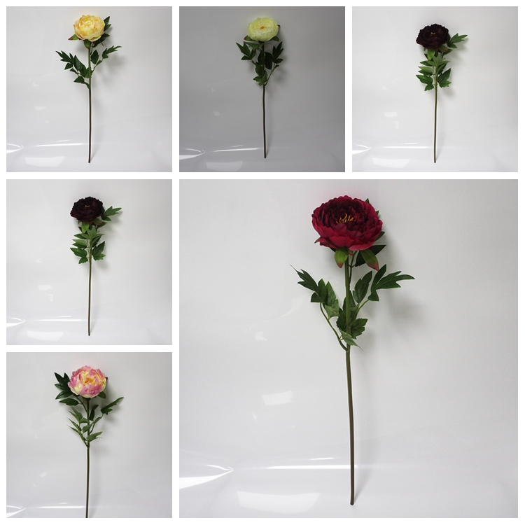 SFL6090 Wholesales New product Flower Silk Fabric Wedding Table Centerpieces Peony Cheap Artificial Flowers