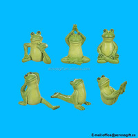 polyresin Yoga Frogs Collection by Ganz (6 Piece Set)