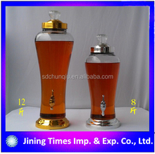 Top grade 1.8L 2.4L 3L 4L 6L Korean style ginseng wine bottle with metal rack, Korean style ginseng wine bottlewholesale