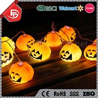 TZFEITIAN indoor Halloween holiday party decorative solar battery operated led paper pumpkin light