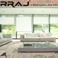 RRAJ Remote Control Motor Roller Blinds and Curtains with Bracket
