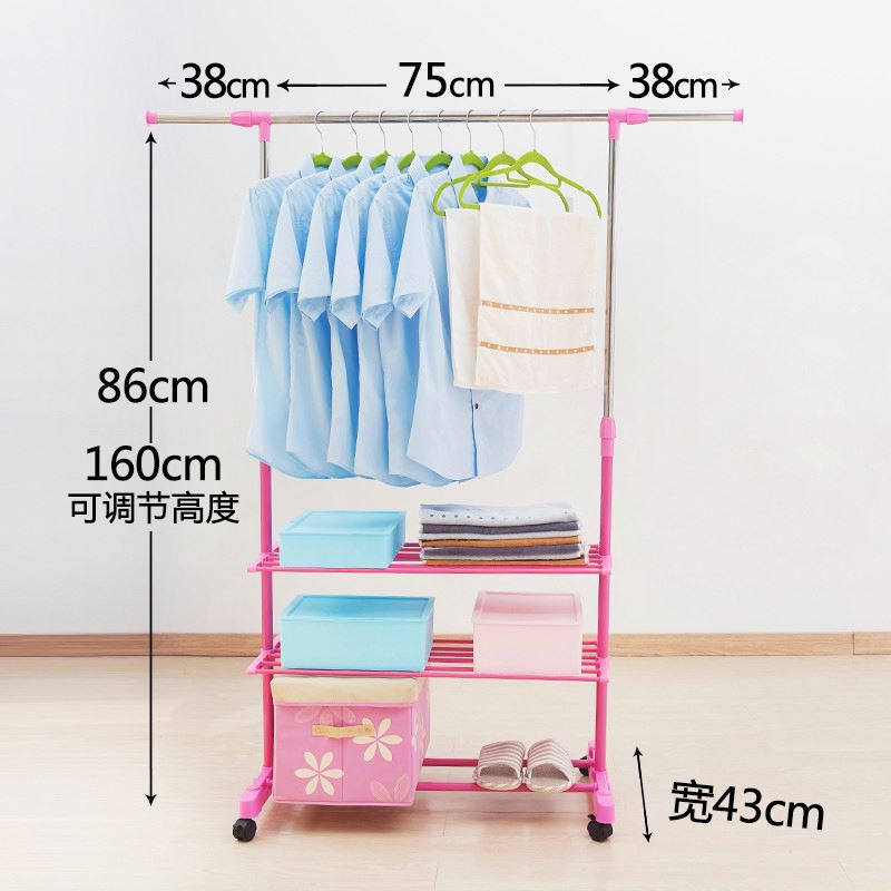 Factory direct sale low price floor quilt coat drying rack stand with many colors