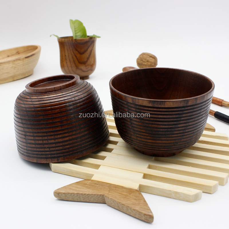 Best selling products smart wood bowl rice soup hand