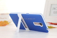 GenLv-MPS001 Newest TPU+PC Mobile Phone Shell Translucent Matte With Stand R7 Plus Back Cover