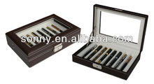 Exquisite displaying leather pen box