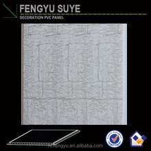 surface film/pvc panel plastic bathroom/pvc ceiling panels outdoor pvc wall pane
