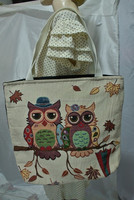 Thai Cotton Owl Tote Women Ladies Bag Handbag Thailand