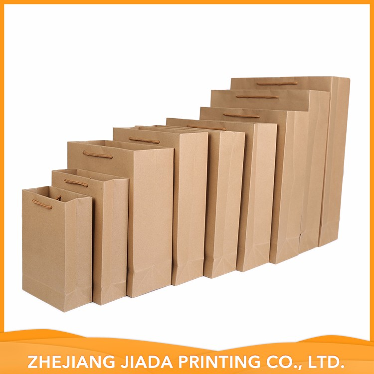 Accept Custom Special Hot Selling Kraft Paper Bag With Flat Handle