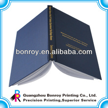 Blue fabric hardcover custom book with hot stamping