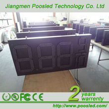 7 segment digit display board \ digit price panel signage \ digit price panel board